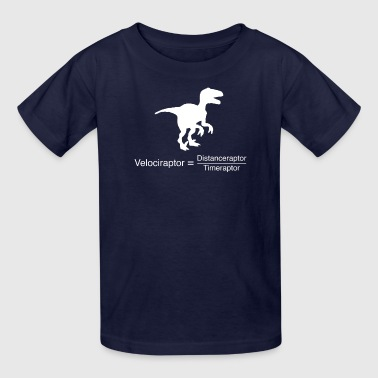 velociraptor funny science - Kids' T-Shirt