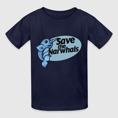 save the narwhals narwhal - Kids' T-Shirt