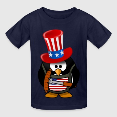 4th Of July The Patriotic Penguin - Kids' T-Shirt