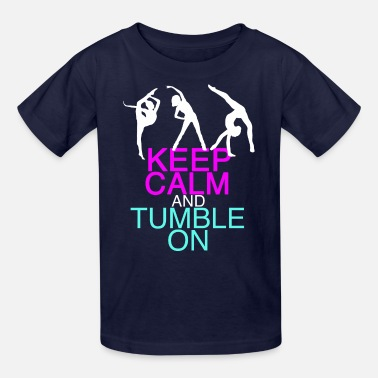 Tumble Cute Gymnastics Humor - Kids' T-Shirt