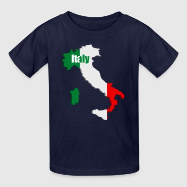Italy map - Kids' T-Shirt