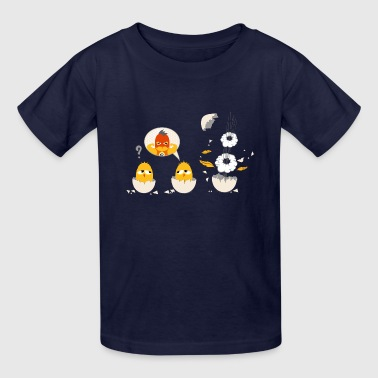 little chick as a superhero - Kids' T-Shirt