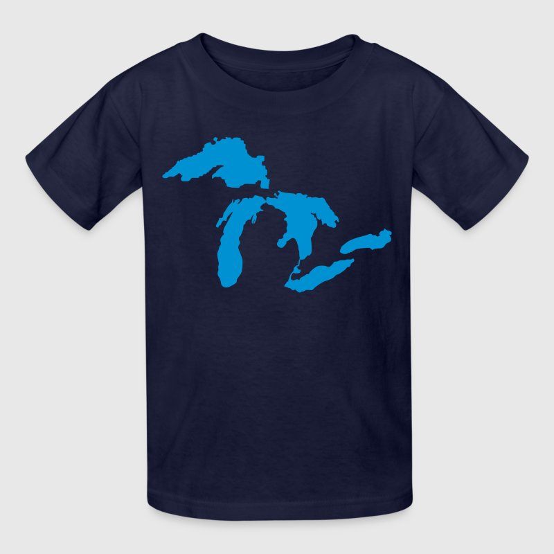 the great lakes design michigan silhouette vector by bespoketech