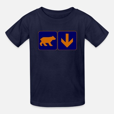 Bear Down Bear with a Down Arrow Clothing Apparel shirts - Kids' T-Shirt