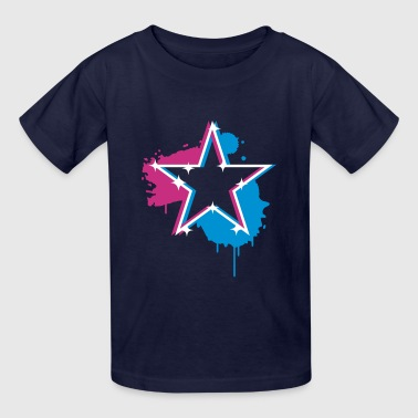 3D graffiti star design  - Kids' T-Shirt
