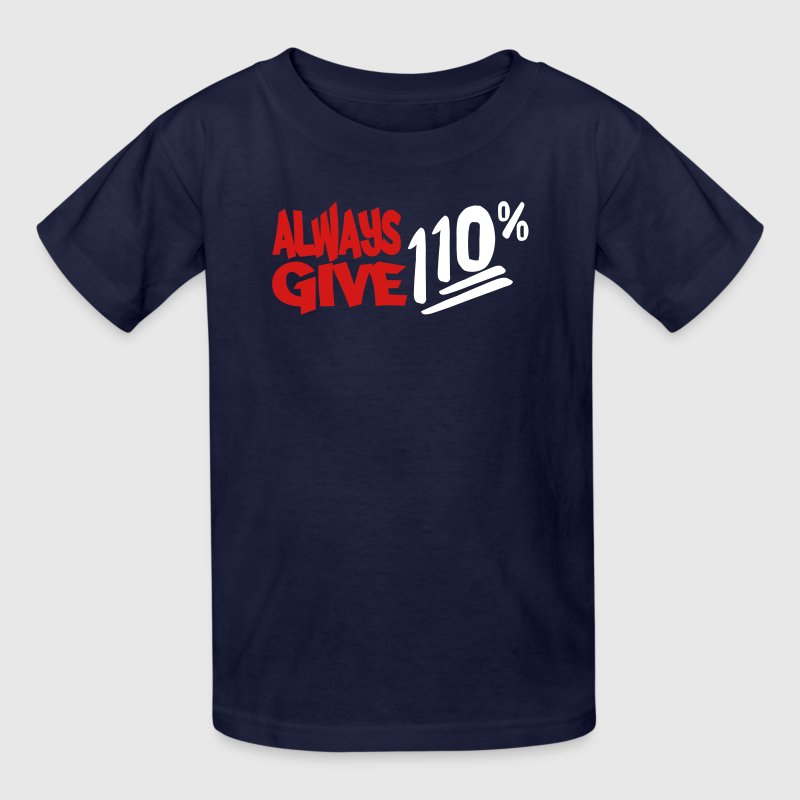 110% 2 Color Vector - Kids' T-Shirt