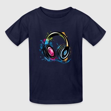 Electricity Graffiti stylish Graffiti Headphones - Kids' T-Shirt