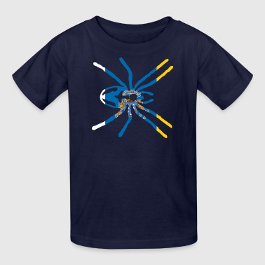 CANARY ISLAND SPIDER FLAG - Kids' T-Shirt