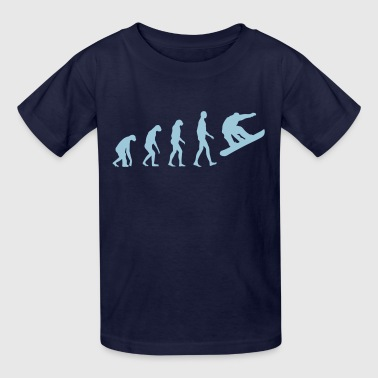 evolution snowboard - Kids' T-Shirt