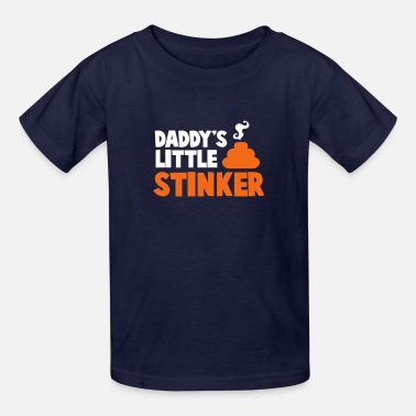 Little Stinker daddy's little stinker with steamy poo - Kids' T-Shirt
