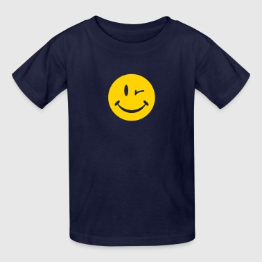 Blinking Smiley - Kids' T-Shirt
