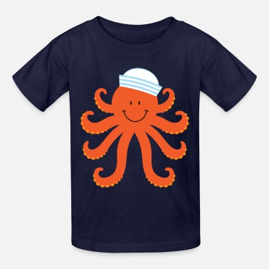 Kids Nautical Octopus Sailor Nautical - Kids' T-Shirt