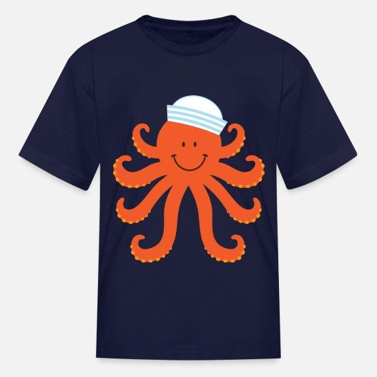 2a83f27b7 Octopus Sailor Nautical Kids' T-Shirt | Spreadshirt