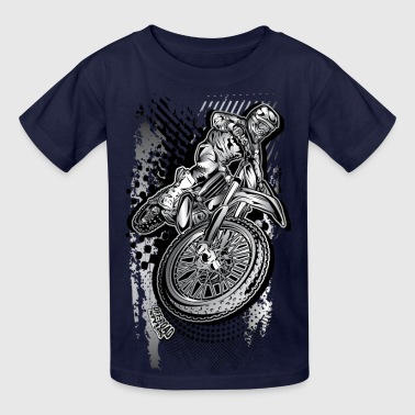 MX Dirt Bike Grunge - Kids' T-Shirt