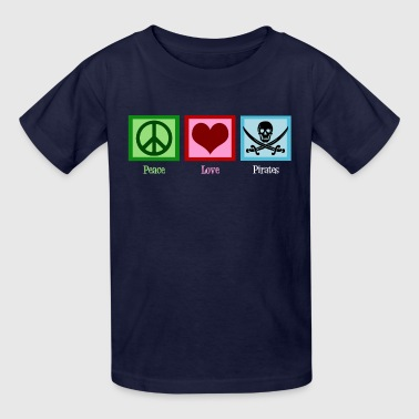 Peace Love Pirates - Kids' T-Shirt