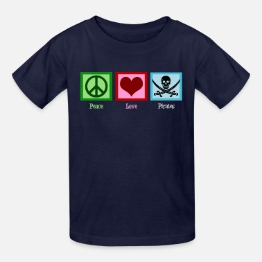 Scallywags Peace Love Pirates - Kids' T-Shirt