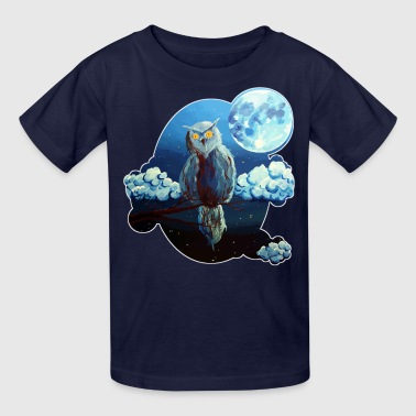 The watcher by Shou '(Owl) - Kids' T-Shirt
