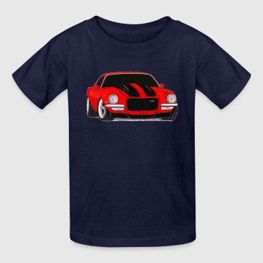 1972 Camaro Z28 Drawing - Kids' T-Shirt