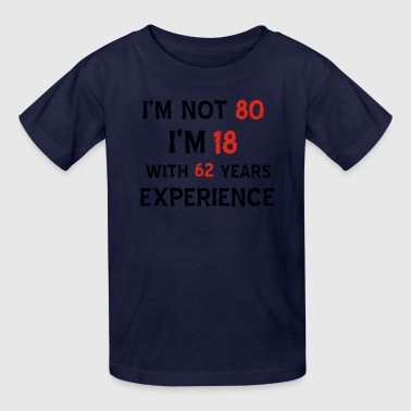 80th year old birthday designs - Kids' T-Shirt