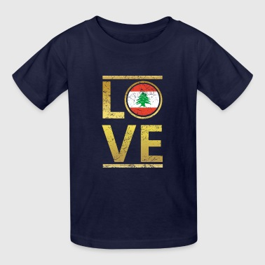 roots love home geschenk queen Libanon - Kids' T-Shirt