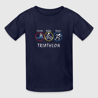 Swim, Bike, run - Triathlon - Kids' T-Shirt