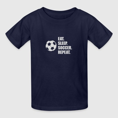 Eat Sleep Soccer Repeat - Kids' T-Shirt