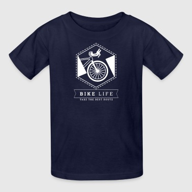 Bike Life - Take the best route - Kids' T-Shirt