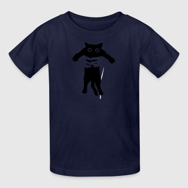 cat raglan - Kids' T-Shirt