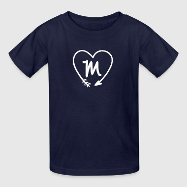 Custom Name Initial T-shirts (Letter M) - Kids' T-Shirt