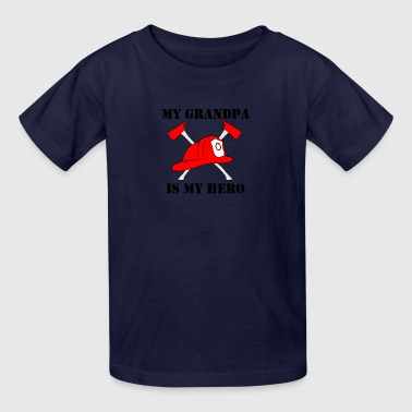 My Grandpa Is My Hero Firefighter - Kids' T-Shirt