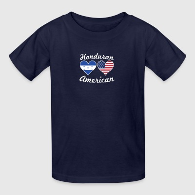 Honduran American Flag Hearts - Kids' T-Shirt