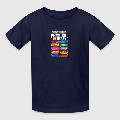 The Laws Of Physical Therapy Awesome Therapist - Kids' T-Shirt