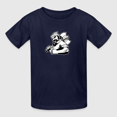 black_white_lumberman - Kids' T-Shirt