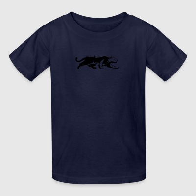crouching_white_panther - Kids' T-Shirt