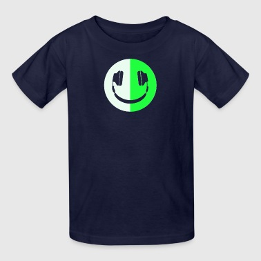 Glow In The Dark Headphone Smiley - Kids' T-Shirt