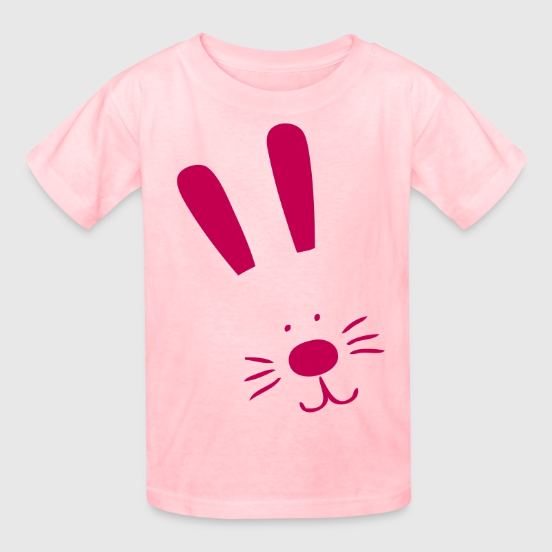 Pink bunny face - Kids' T-Shirt