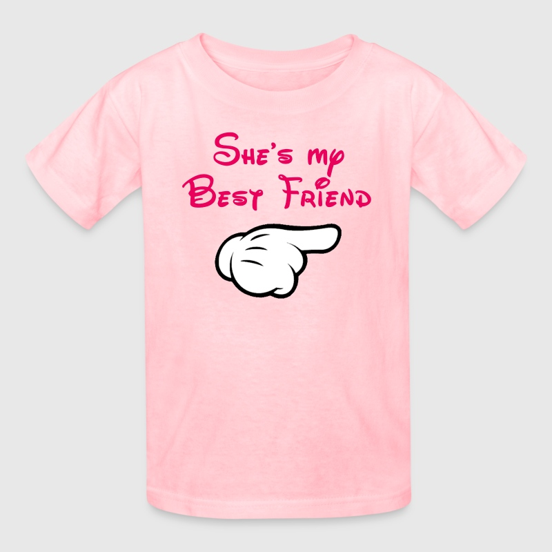 My bff Mickey hand pointing left - Kids' T-Shirt