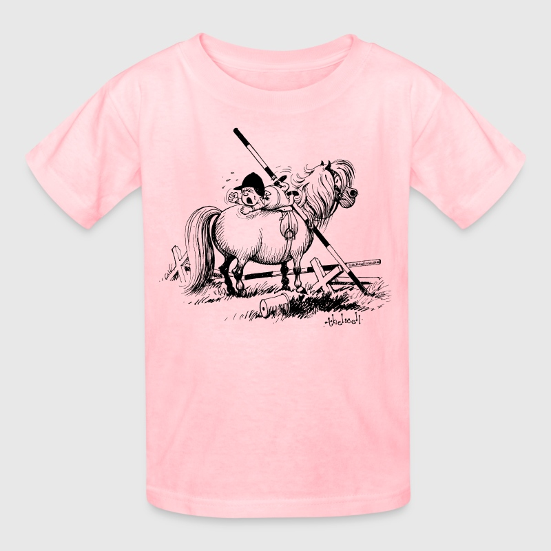 Thelwell Show Jumping Lazy Horse - Kids' T-Shirt