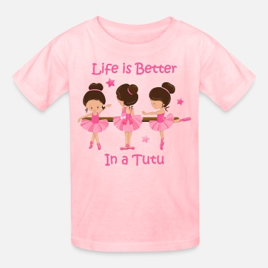 Ballerina Life's Better In A Tutu KS - Kids' T-Shirt