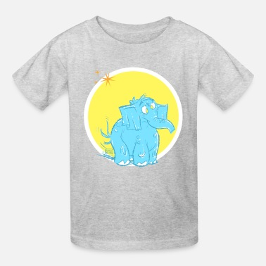 Shelly the Elephant by Sather - Kids' T-Shirt