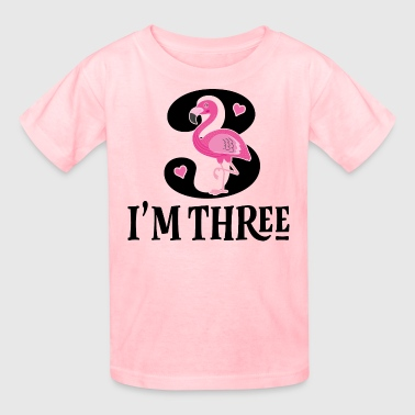 3rd Birthday Pink Flamingo Girls - Kids' T-Shirt