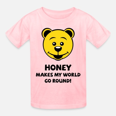 The Teddy Bear Picnic Honey Makes My World Go Round! (Honey Bear) - Kids' T-Shirt