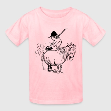 Thelwell Spring Cleaning Sweeping Horse - Kids' T-Shirt