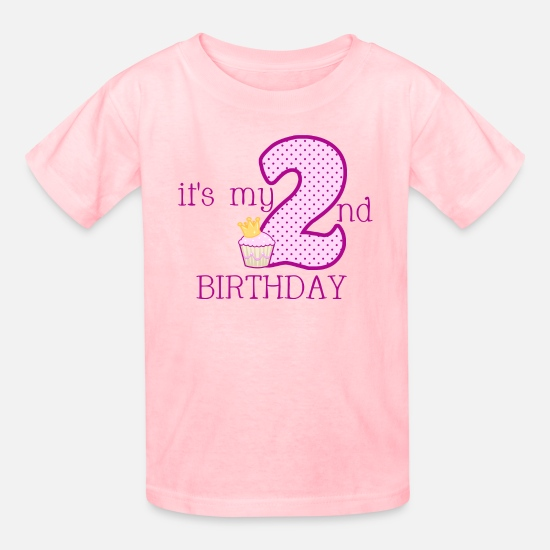 Birthday T-Shirts - Girls 2ND BIRTHDAY - Kids' T-Shirt pink