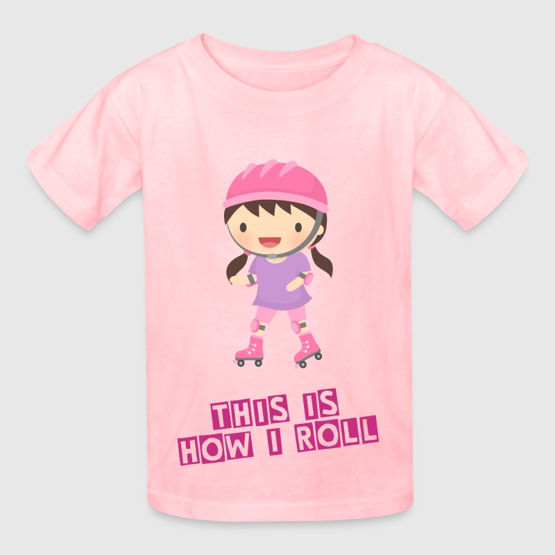 Cute Roller Skater Girl - Kids' T-Shirt