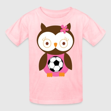 Soccer Player Girl Pink - Kids' T-Shirt