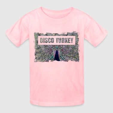 Neon Peacock: Colorful Disco Turkey - Kids' T-Shirt