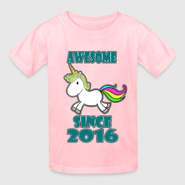 2016 Awesome with unicorn - Kids' T-Shirt
