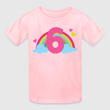 6th Birthday Girls Rainbow - Kids' T-Shirt