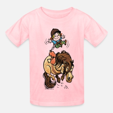 Thelwell Thelwell Funny Illustration Bucking Horse - Kids' T-Shirt